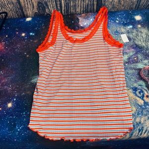 Gap Love of Stripes & Lace Modal Soft Tank NWT